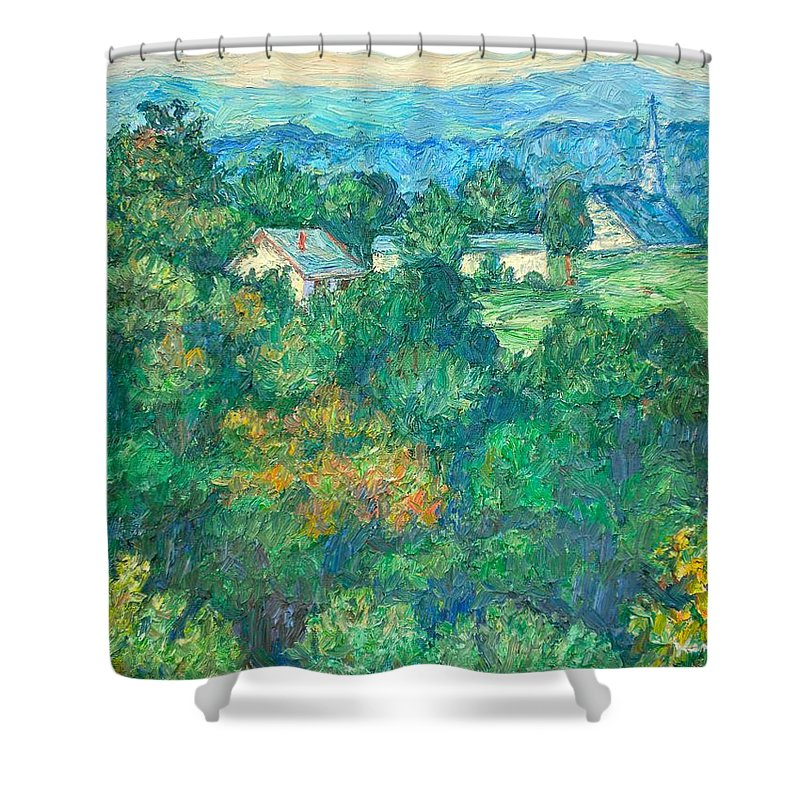 Kendall Kessler Shower Curtain featuring the painting Fairlawn Ridge by Kendall Kessler