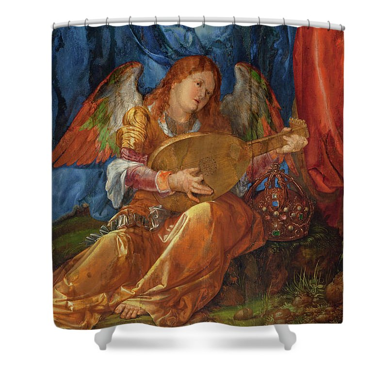 Albrecht Durer Shower Curtain featuring the painting Feast Of The Rosary, 1506 by Albrecht Durer