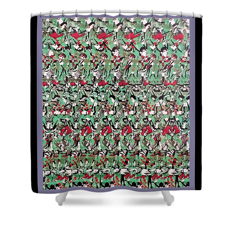 Playboy Shower Curtain featuring the photograph Find The Bunny by Rob Hans