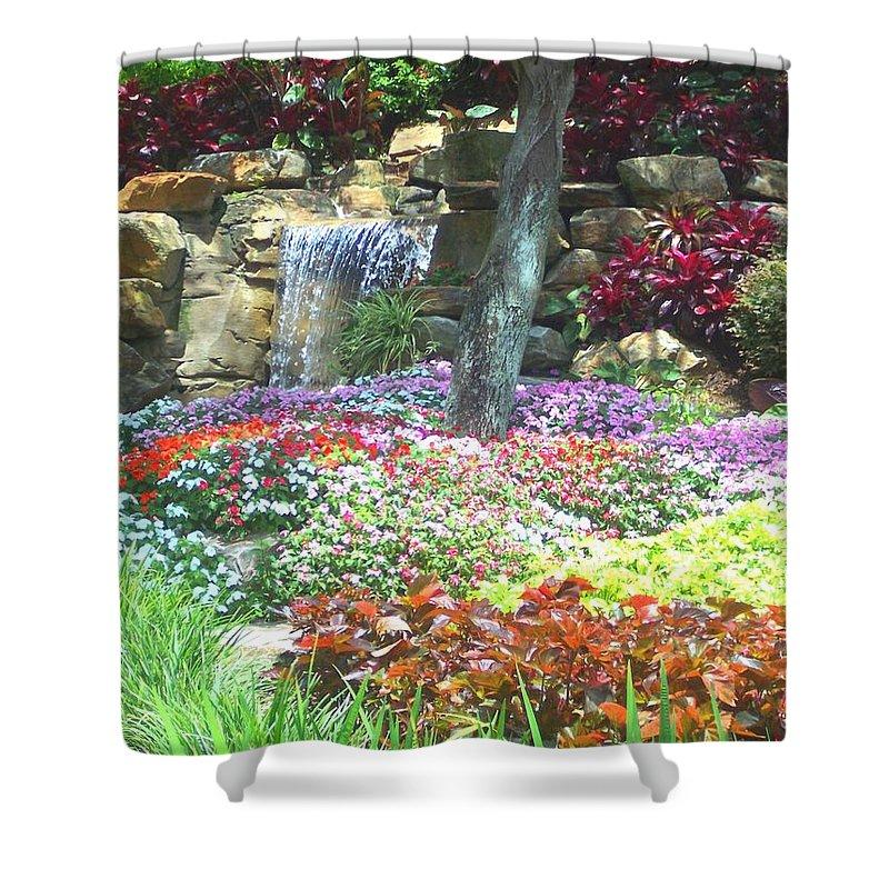 Garden Shower Curtain featuring the photograph Floral Garden by Pharris Art