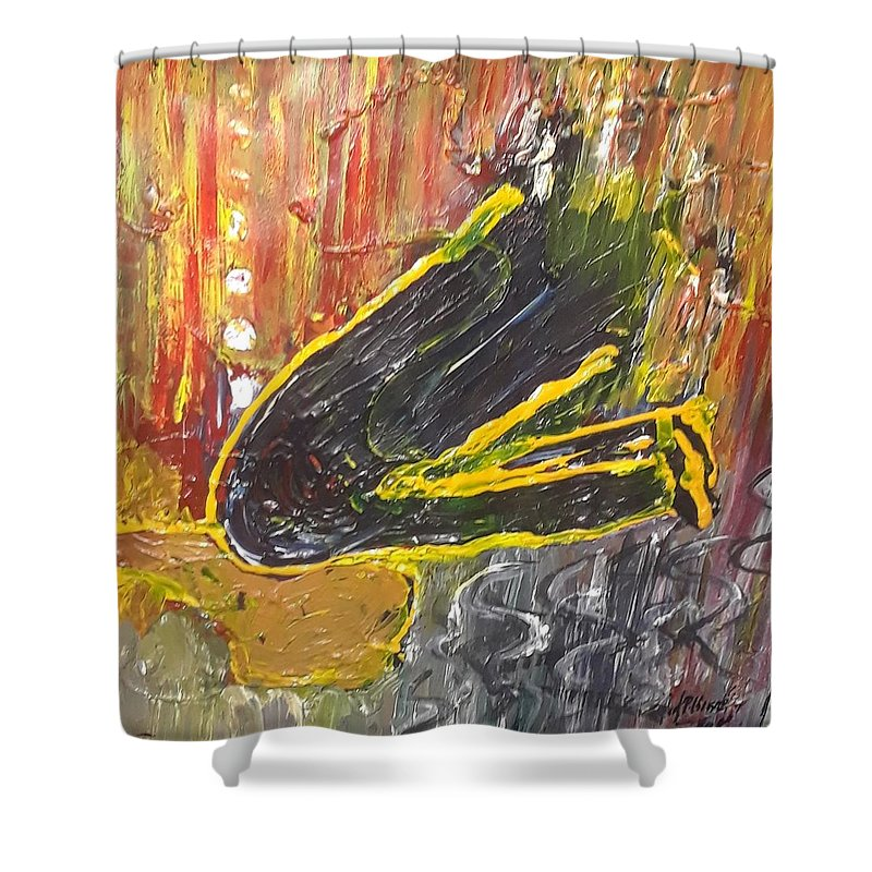 Shower Curtain featuring the painting Floyd by Carol P Kingsley