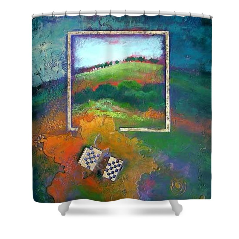 Impressionist Shower Curtain featuring the painting Focal point by Farhan Abouassali
