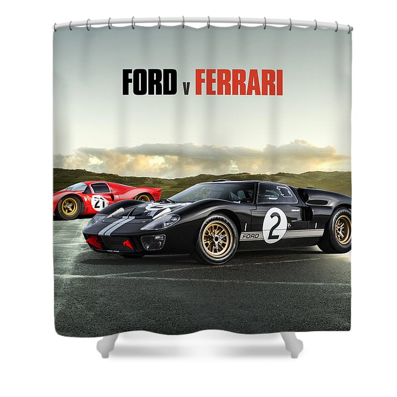 Ford V Ferrari Shower Curtain For Sale By Peter Chilelli