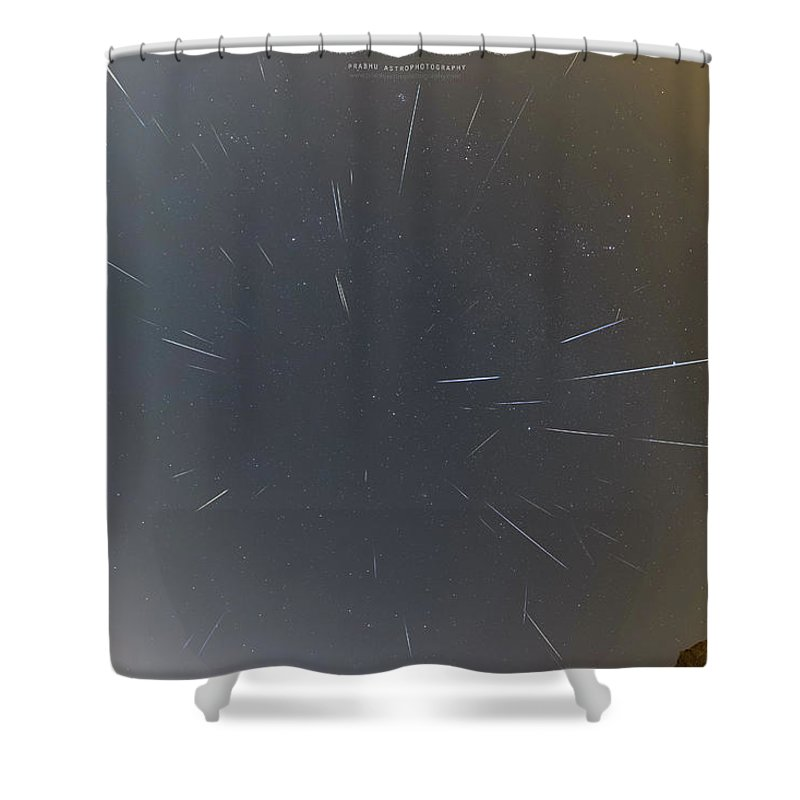 Shower Curtain featuring the photograph Geminids Meteor Shower 2020 by Prabhu Astrophotography