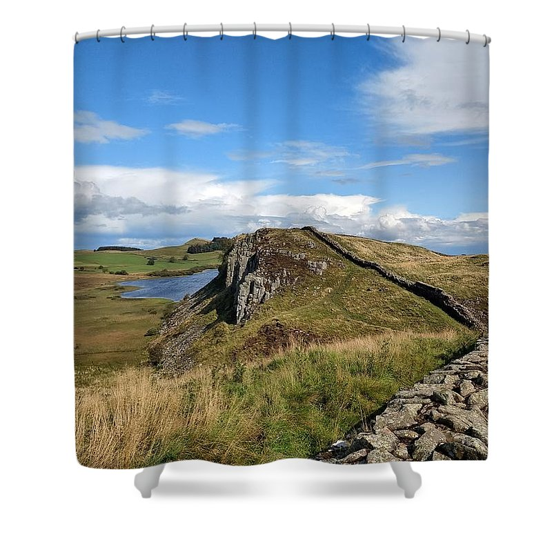 Landscape Shower Curtain featuring the photograph Hadrianswall by Pop