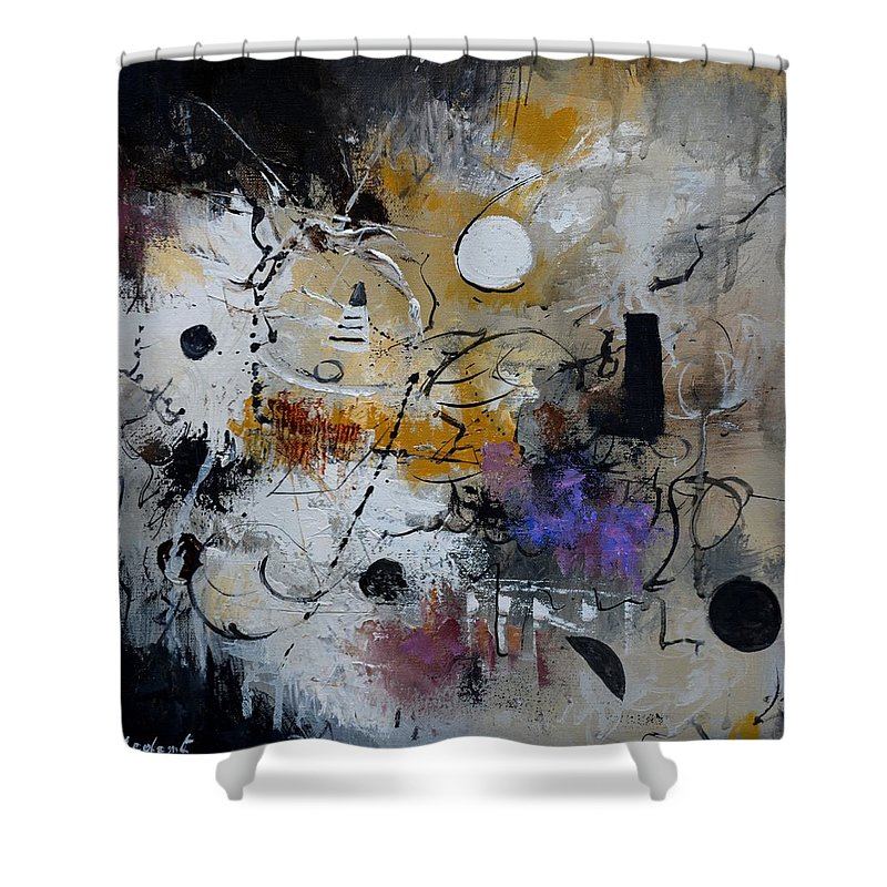 Abstract Shower Curtain featuring the painting Hamilcar s strategy by Pol Ledent