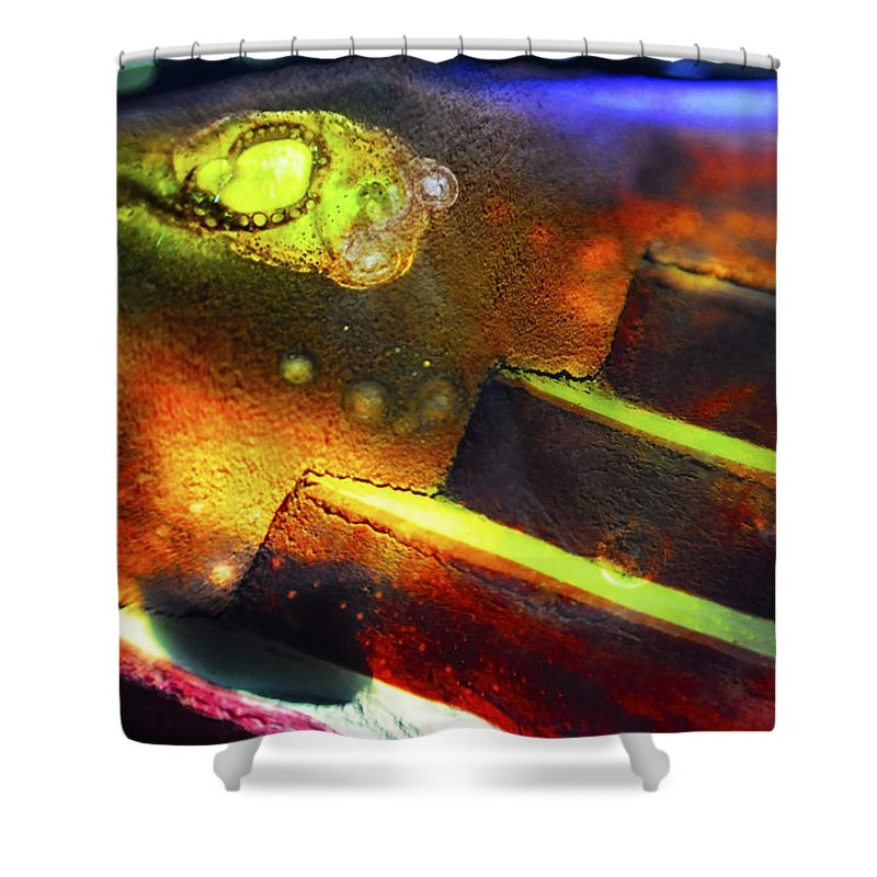 Abstract Shower Curtain featuring the photograph Heart of Glass by Skip Hunt