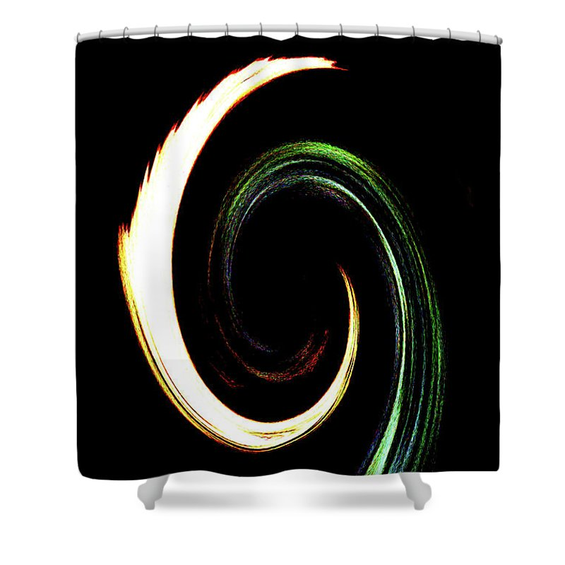 Abstract Shower Curtain featuring the photograph Inner Peace by Holly Morris
