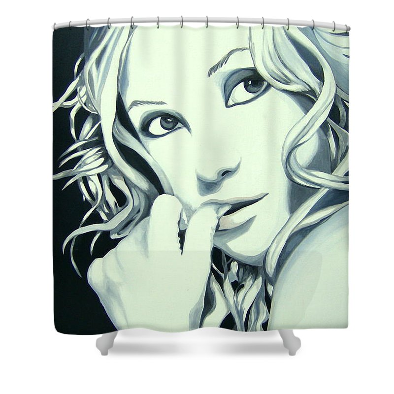 Kate Shower Curtain featuring the painting Kate by Holly Picano