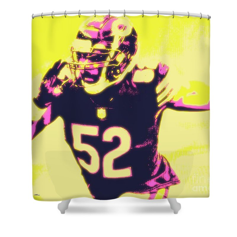 Khalil Shower Curtain featuring the painting Khalil Mack by Jack Bunds