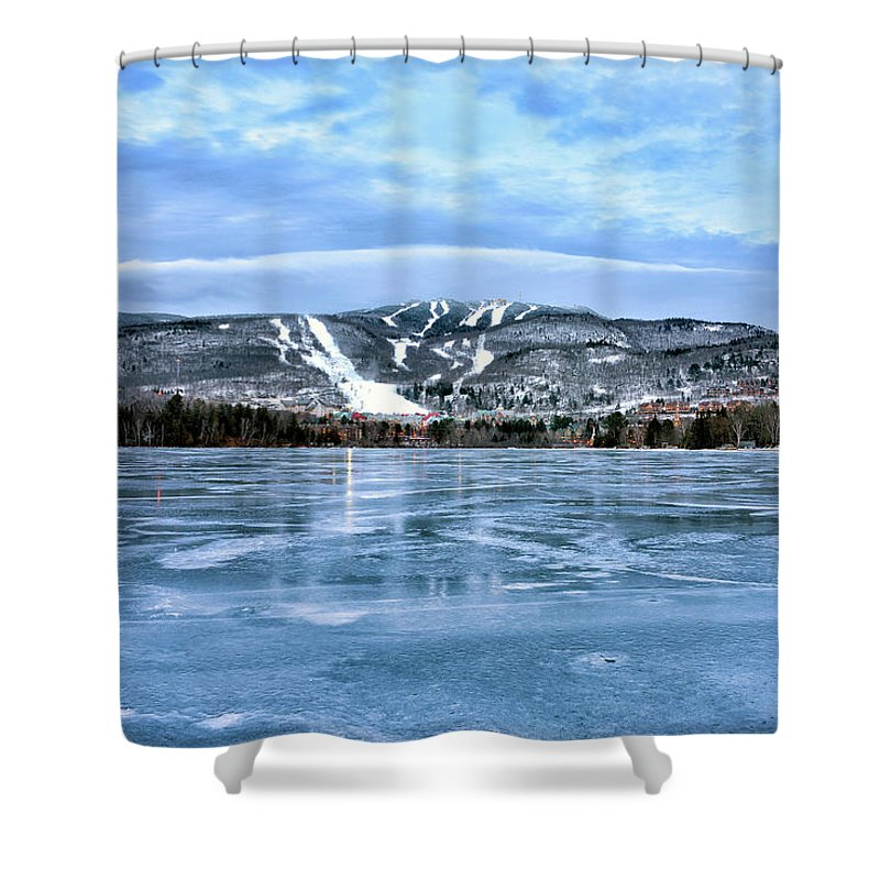 Mont Tremblant Shower Curtain featuring the photograph Lac Tremblant And Mont Tremblant - Quebec Canada by Brendan Reals