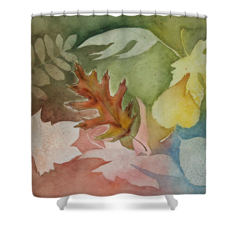 Leaves Shower Curtain featuring the painting Leaves IV by Patricia Novack