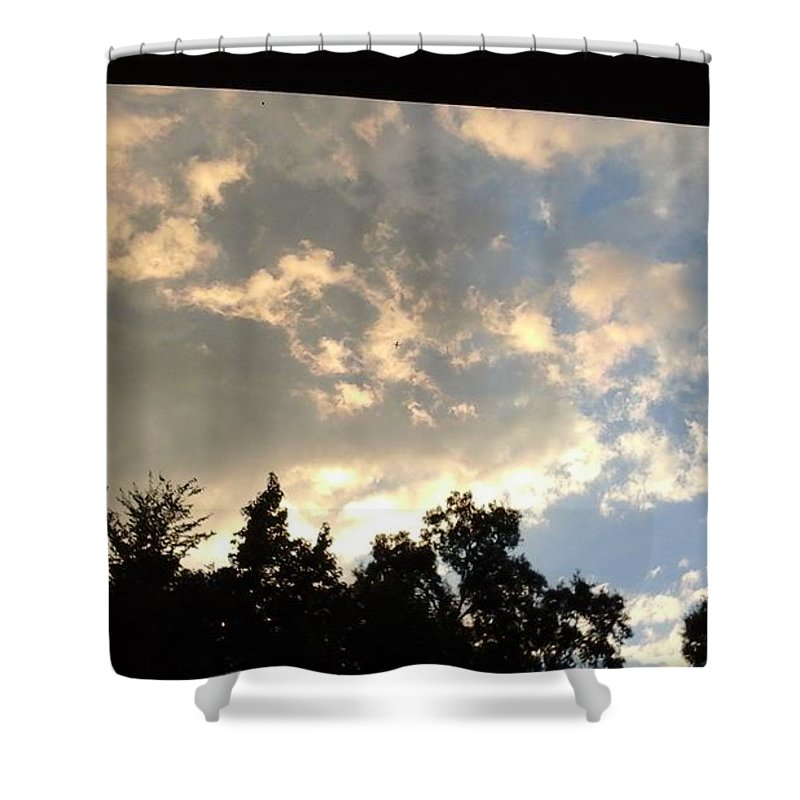 Blue Sky Shower Curtains