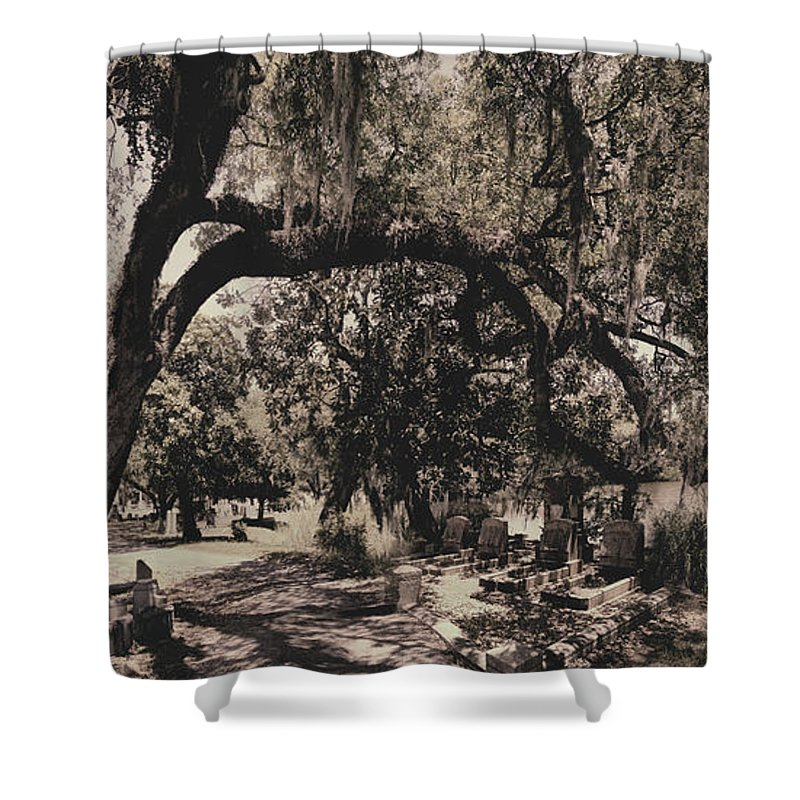 Castle Shower Curtain featuring the photograph Magnolia Cemetery by James Christopher Hill