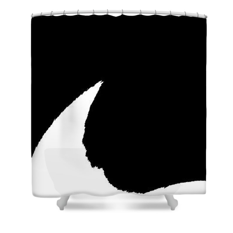 Abstract Shower Curtain featuring the photograph Minimal Black And White by Holly Morris