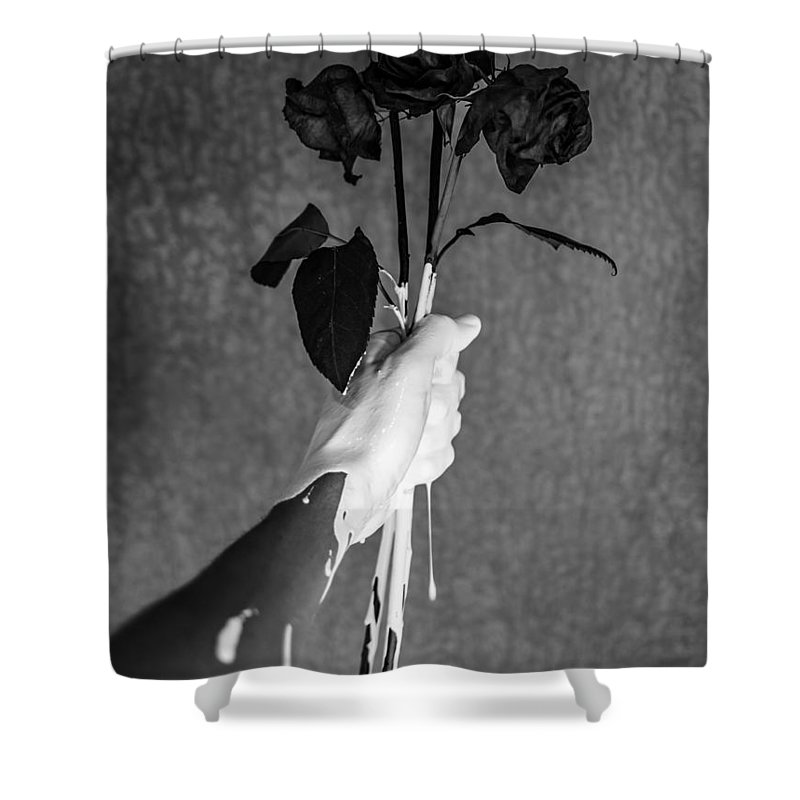 Flowers Shower Curtain featuring the photograph Moment by Brendan North
