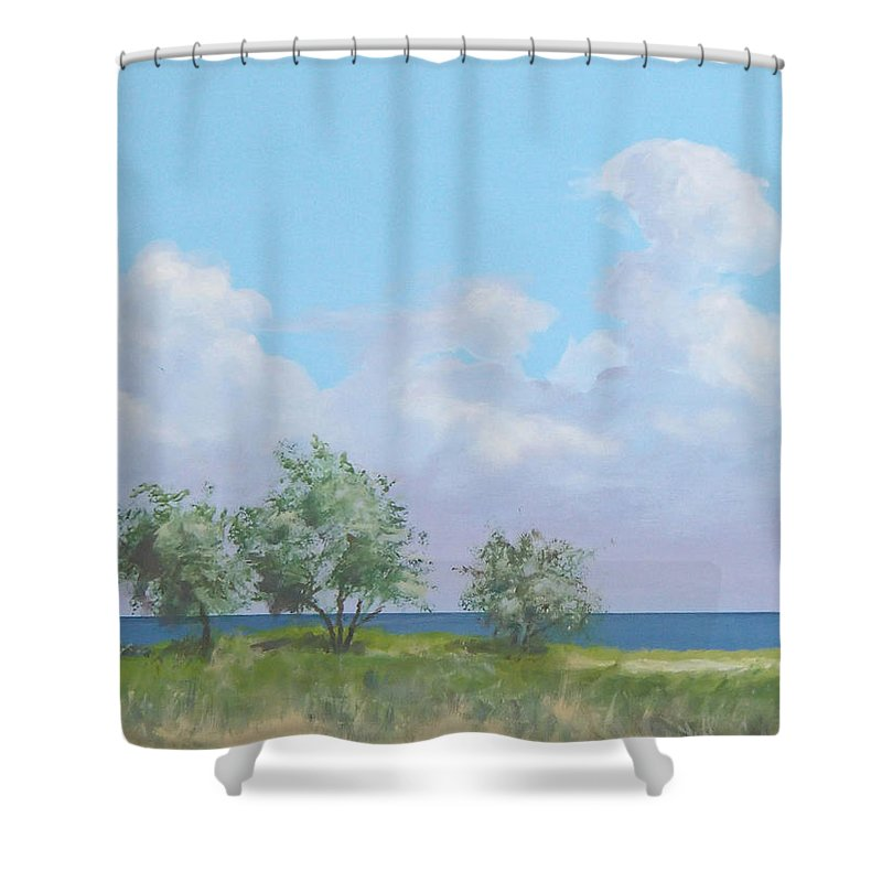 Monterey Shower Curtain featuring the painting Monterey by Philip Fleischer