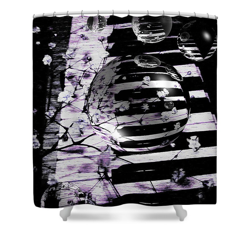 Piano Art Shower Curtain featuring the photograph Music World by Linda Sannuti
