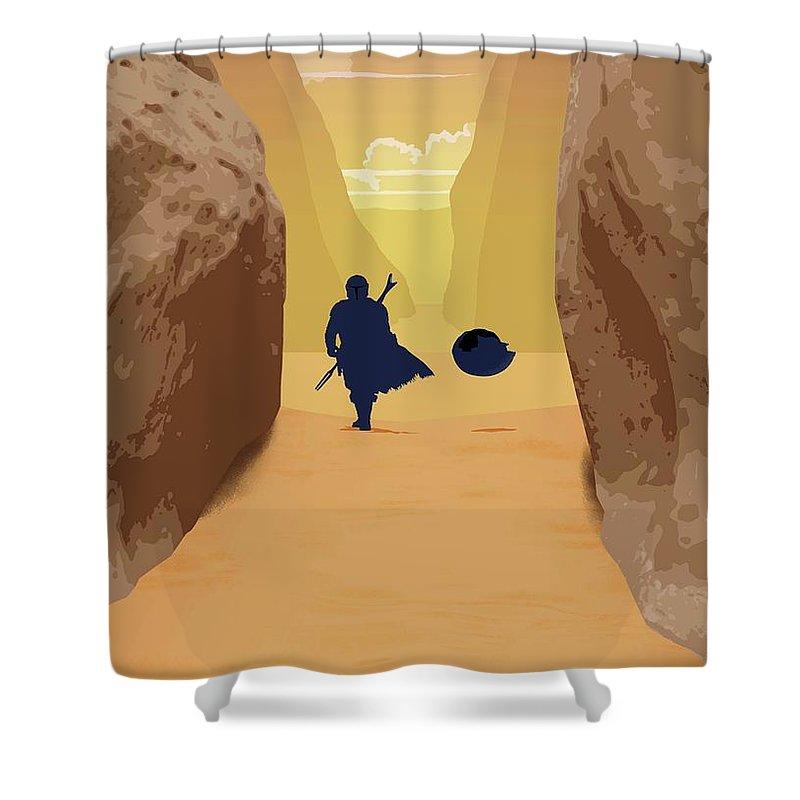 Star Wars Shower Curtain featuring the digital art New Born Baby Yoda by Trindira A