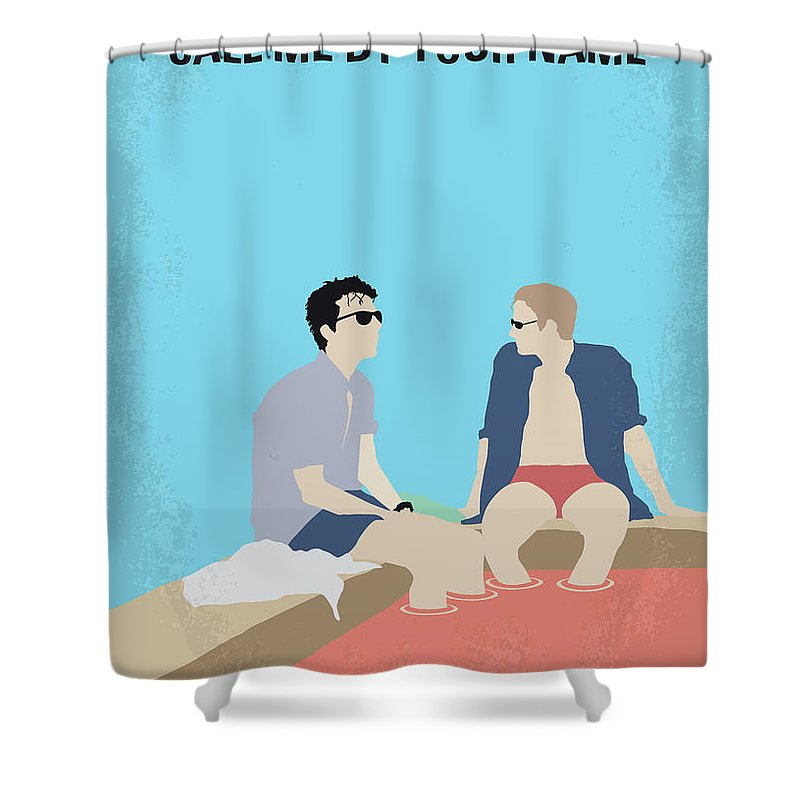 Call Shower Curtain featuring the digital art No1124 My Call Me By Your Name Minimal Movie Poster by Chungkong Art