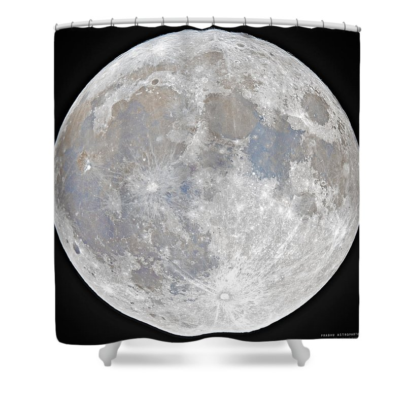Fullmoon Shower Curtain featuring the photograph October 2020 Halloween Full/Blue Moon by Prabhu Astrophotography