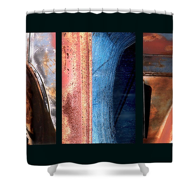 Abstract Shower Curtain featuring the photograph Ole Bill by Steve Karol