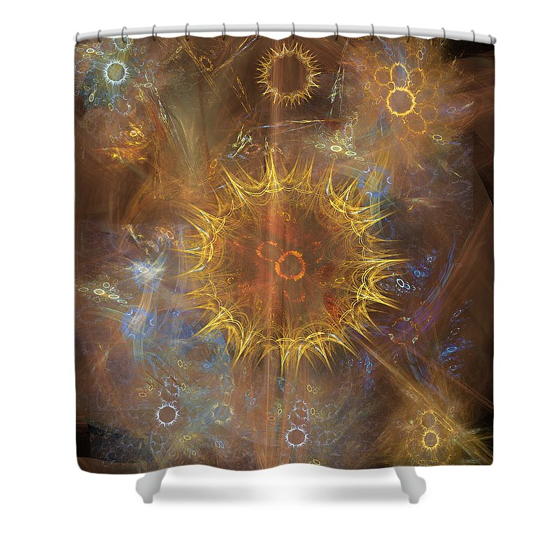 One Ring To Rule Them All Shower Curtain featuring the digital art One Ring To Rule Them All by Studio B Prints