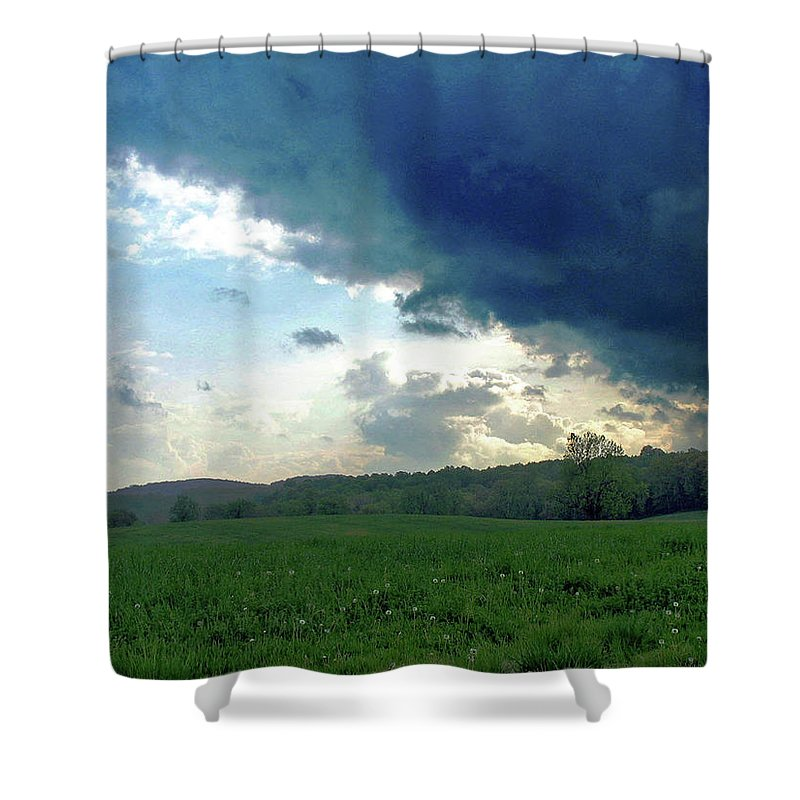 Nature Shower Curtain featuring the photograph Open Spaces by Holly Morris