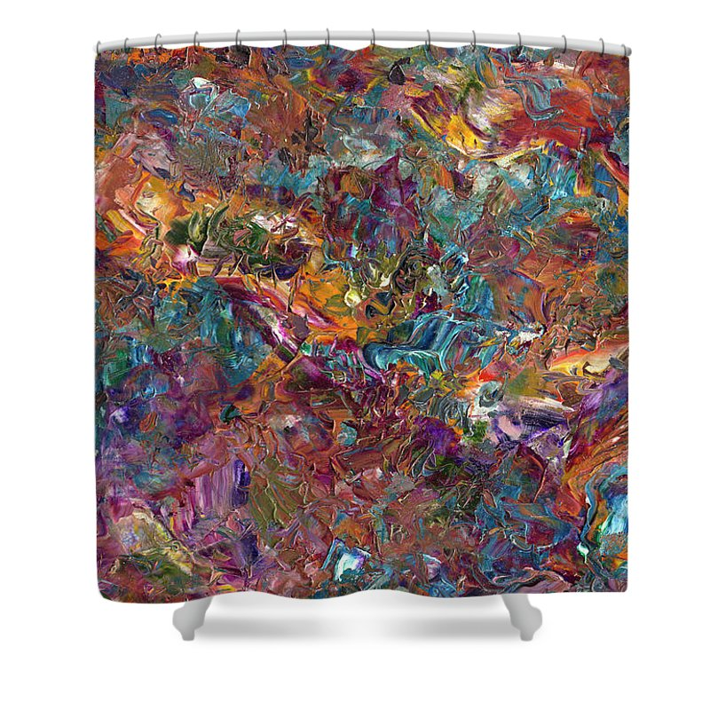 Abstract Shower Curtain featuring the painting Paint number 16 by James W Johnson