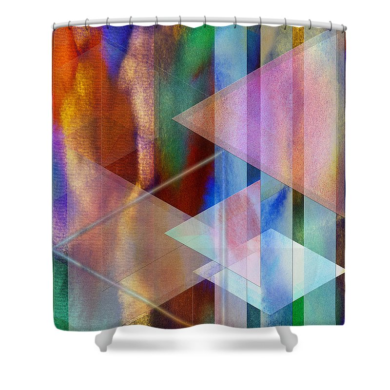 Pastoral Midnight Shower Curtain featuring the digital art Pastoral Midnight by John Robert Beck