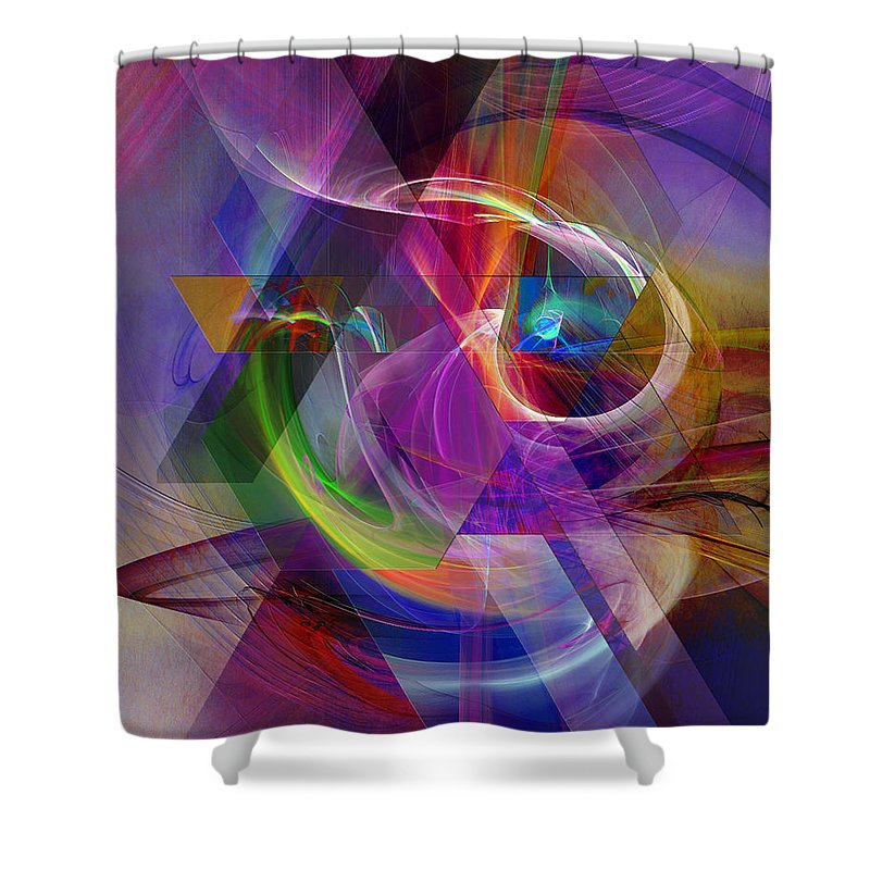 Pyramid Timeline Shower Curtain featuring the digital art Pyramid Timeline by John Robert Beck