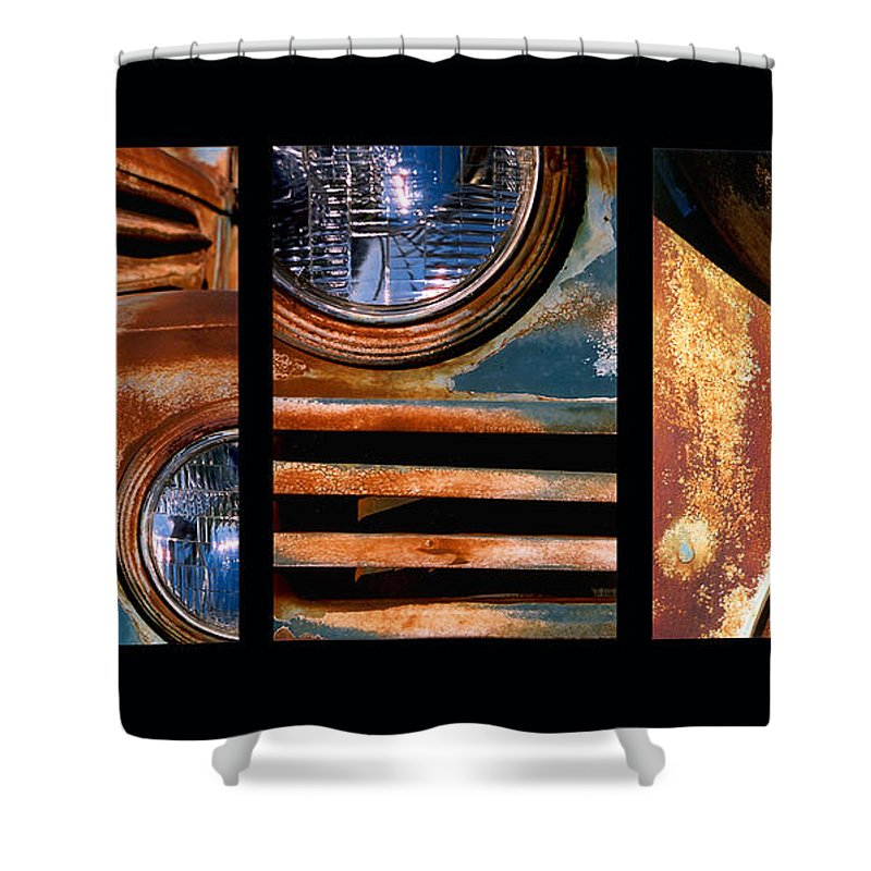Abstract Shower Curtain featuring the photograph Red Head On by Steve Karol