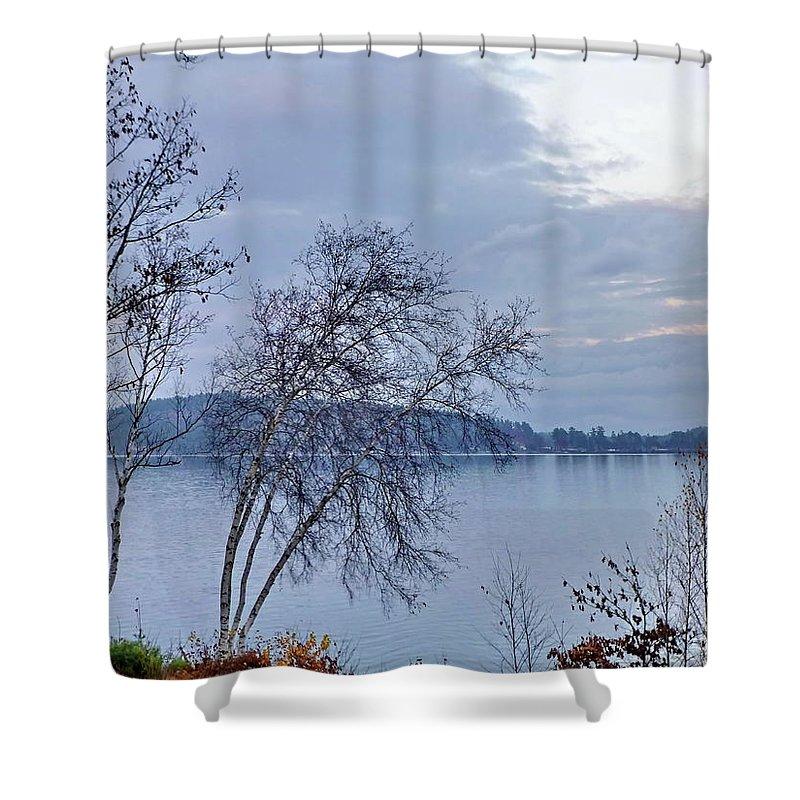 Fall Shower Curtain featuring the photograph Sad Autumn Evening by Lyuba Filatova