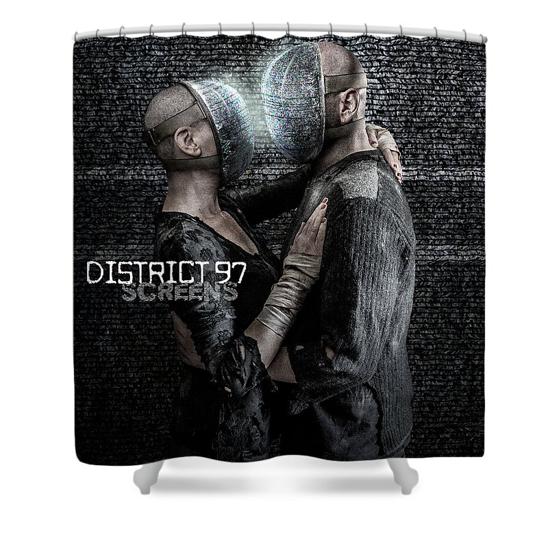 Shower Curtain featuring the digital art Screens by District 97