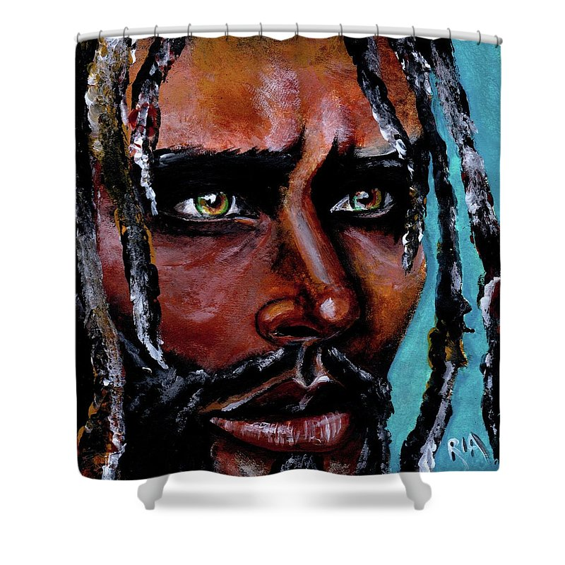Eyes Shower Curtain featuring the painting Selfless Life by Artist RiA