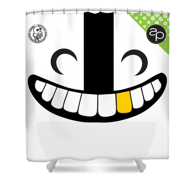 Art Of The Parade Society Shower Curtain featuring the digital art Skeleton Krewe by Art of the Parade Society