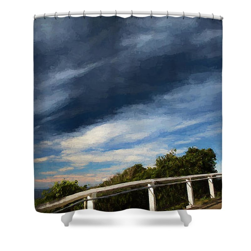 Smoky Cape Shower Curtain featuring the photograph Smoky Cape lighthouse by Sheila Smart Fine Art Photography