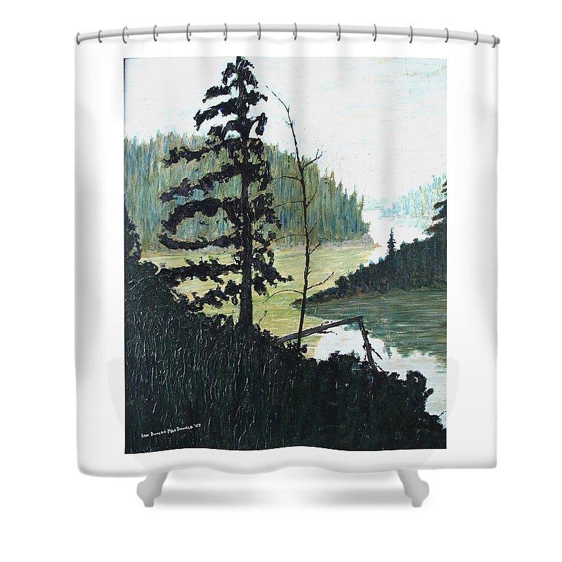 Sudbury Shower Curtain featuring the painting South of Sudbury by Ian MacDonald