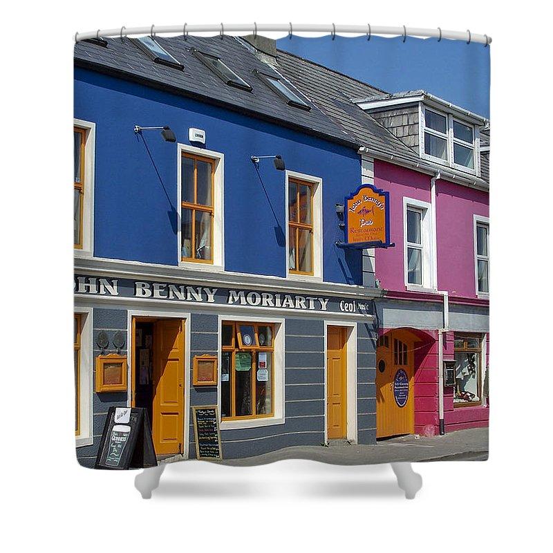 Irish Shower Curtain featuring the photograph Strand Street in Dingle Ireland by Teresa Mucha