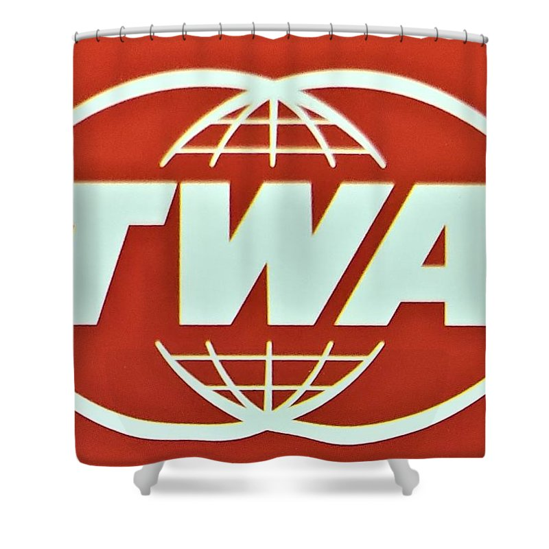 Twa Shower Curtain featuring the photograph T W A by Rob Hans