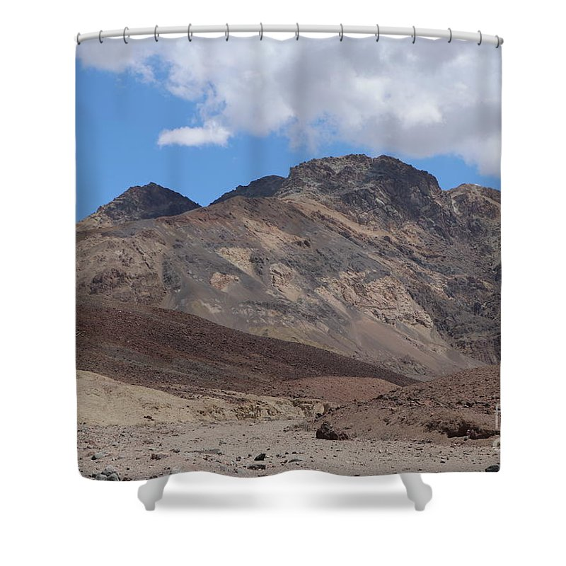 Badlands Shower Curtain featuring the photograph The Colors Of The Desert by Christiane Schulze Art And Photography
