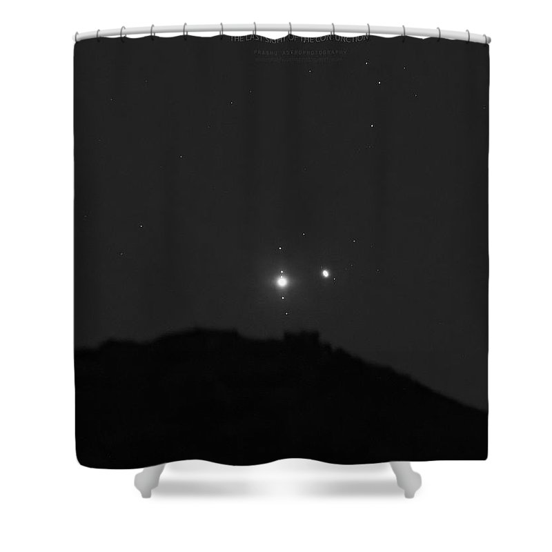 Shower Curtain featuring the photograph The Last sight of the Conjunction by Prabhu Astrophotography