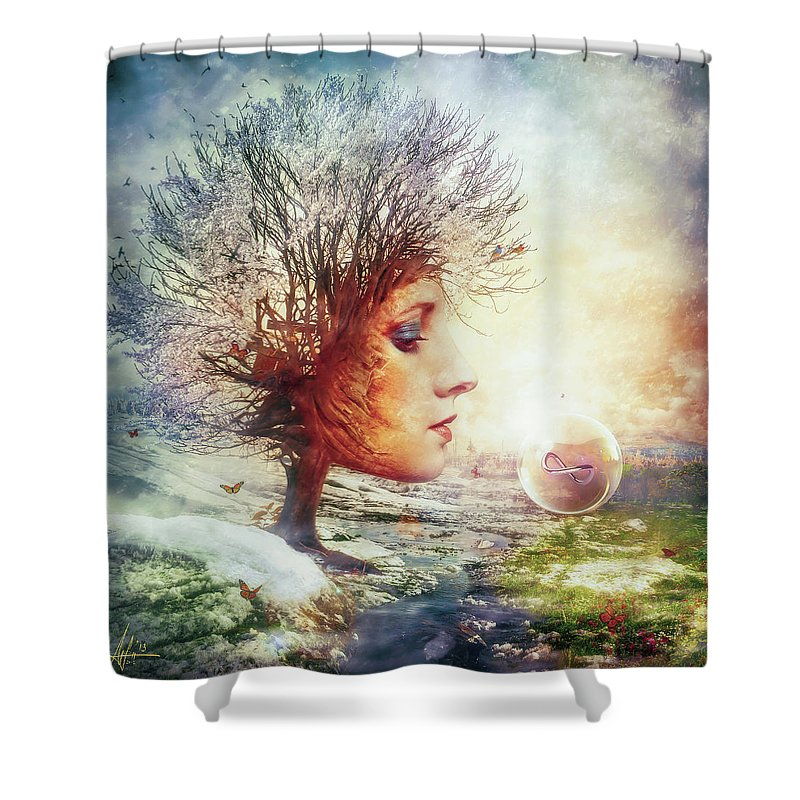 Full Bloom Shower Curtains