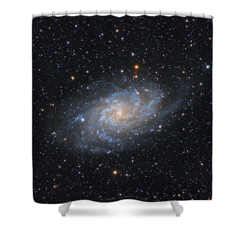 Galaxy Shower Curtain featuring the photograph Triangulum Galaxy by Prabhu Astrophotography