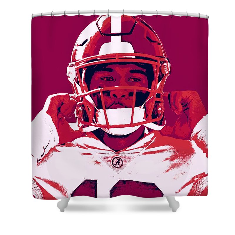 Tua Shower Curtain featuring the painting Tua by Jack Bunds