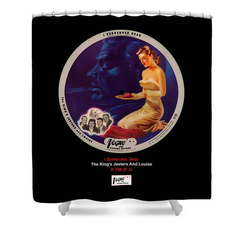 Vogue Picture Record Shower Curtain featuring the digital art Vogue Record Art - R 708 - P 3 by John Robert Beck