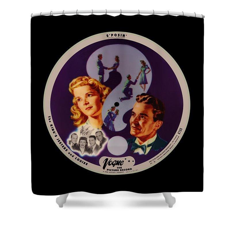 Vogue Picture Record Shower Curtain featuring the digital art Vogue Record Art - R 708 - P 4 - Square Version by John Robert Beck