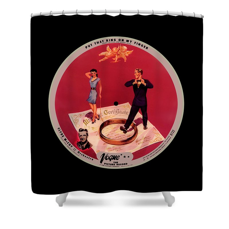 Vogue Picture Record Shower Curtain featuring the digital art Vogue Record Art - R 722 - P 8 - Square Version by John Robert Beck