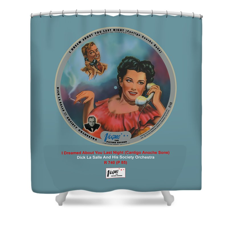 Vogue Picture Record Shower Curtain featuring the digital art Vogue Record Art - R 740 - P 85 by John Robert Beck