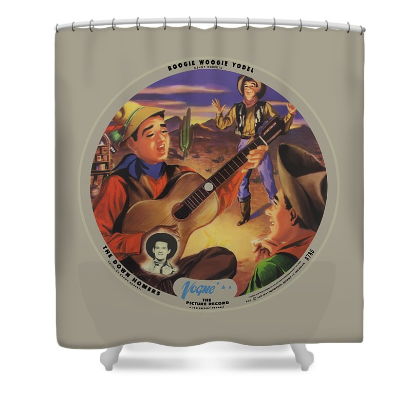 Vogue Picture Record Shower Curtain featuring the digital art Vogue Record Art - R 786 - P 52 - Square Version by John Robert Beck